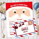 Letter to Santa Claus, Santa Letter with Envelope Template, Instant Download, Letter to Santa, Printable Letter to Santa, Christmas Letter