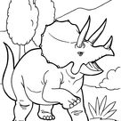 Angry triceratops dinosaur coloring pages for kids, printable free