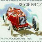 Sello Car races Spa   Francochamps   Alfa Romeo P2 1925 Bélgica Car races Spa MiBE 2704,SnBE 1619,YtBE 2649,SgBE 3335,BelBE 2650