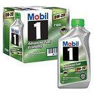 Mobil 1 0W 20 Advanced Fuel Economy Motor Oil 6 pack, 1 quart bottles   Sam's Club