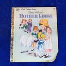 Vintage Mother Goose A Little Golden Children's Book .
