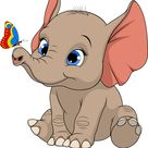 Funny kid elephant vector image on VectorStock