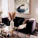 LARGE  ABSTRACT PAINTING IN BEIGE TONES
