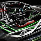 Bertone Jaguar B99 Concept GT Interior Rendering