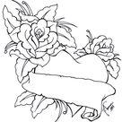 Roses Heart Lineart by kauniitaunia on DeviantArt