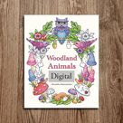 Printable Digital Coloring Book for Grownups WOODLAND | Etsy