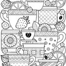 Vector Coloring Page Coloring Book Adult Stock Vector (Royalty Free) 386576455