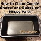 Clean Cookie Sheets