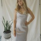 Size 8   90s Silver Dream Evening Dress