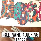 Free name coloring pages