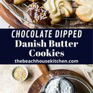 Chocolate Dipped Danish Butter Cookies
