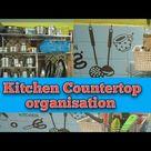 How to Organize Kitchen /Kitchen Countertop Organisation in Tamil /Kitchen tour Part 1