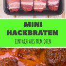 Mini-Hackbraten – ein Braten-Rezept mit Soße aus dem Ofen.
