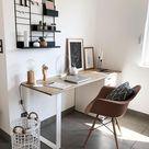 Schreibtisch DIY – Idee, um einen IKEA Schreibtisch selber zu bauen - Whitelilystyle
