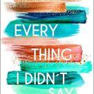Everything I Didn't Say von Kim Nina Ocker - eBook | Thalia