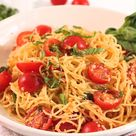 Easy, Fresh, No-Cook Pasta Sauce with Cherry Tomatoes