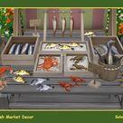 Fish Market Decor. Sims 4