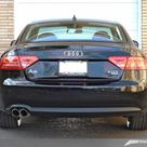 AWE Tuning Audi B8 A5 2.0T Touring Edition Single Outlet Exhaust   Polished Silver Tips