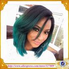 46.0US $ |Free shipping black to dark green ombre teal turquoise natural Straight Synthetic Lace Front Wig short bob Heat Resistant|lace wig cap|lace wig materiallace wig indian hair - AliExpress