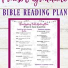 Printable Holiday Bible Reading Plan