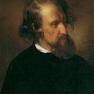 Friedrich von Amerling, 1853 - The painter Josef Kriehuber - fine art print - Poster print (canvas paper) / 30x40cm - 12x16
