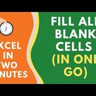 How to FILL BLANK CELLS in Excel (with 0 or Text or Formula)