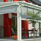 Sommergarten Terrasse Ganzglaselemente Glasschiebeelemente