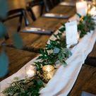 Weiße Winter Hochzeit Tisch Herzstücke der Gaze Läufer Weihnachten Baumwolle Läufer rustikale Dekor Käsetuch Läufer