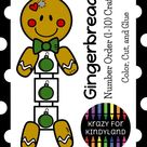 Gingerbread Craft with Number Order Math Activity for Kindergarten
