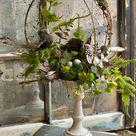 Spring open terrarium topiary