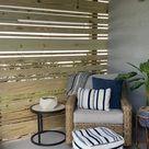 DIY privacy wood wall