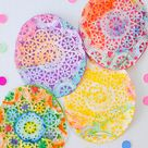 Beautiful Easter Egg Doily Craft for Kids Inspired by Rechenka's Eggs -