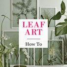 Leaf Art DIY Gerahmtes Grün