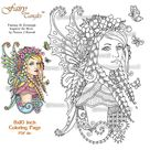 Guardian of the Meadow Fairy Tangles Printable Coloring Book Pages and Sheets by Norma Burnell Fairies Coloring for Adults Digital Coloring
