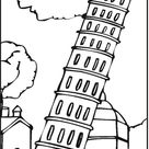 Leaning Tower Of Pisa coloring page   Free Printable Coloring Pages