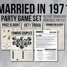 50th Anniversary Party Games, Adult Party Games, 50th Trivia Game, 1970 Anniversary Games, 70s Songs Trivia Game, Instant Download, 1970s