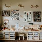 Montessori play room with musical toy