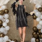 Black Great Gatsby Dress Costume 1920s Fashion Style Flapper Dress with Tassels Sleeveslesss Vintage 20s Party outfits Short dress Halloween