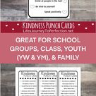 Kindness Punch Cards Printable