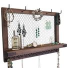 Jewelry Organizer Shelf Wall Mounted Jewelry Storage Wood | Etsy