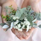Eucalyptus hair comb greenery succulent Bridal hair vine boho | Etsy