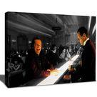 The Shining Bar Scene portrait Art Canvas Wrap, Jack Nicholson Movie Poster, BW colorized print, Film Wall