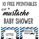 Mustache Party: 10 Free Printables | Paper Trail Design