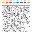 Coloriage magique en français fantasma y murciélago de Halloween para colorear