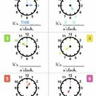 What's the time   drag and drop worksheet