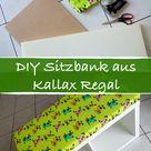 DIY Sitzbank bauen, aus Kallax Ikea Regal - Hack