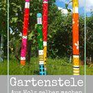 Garten-Deko selbst gemacht: Stele aus Holz, Anleitung
