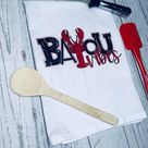 Bayou Vibes Kitchen Towel, Crawfish Tea Towel, Cajun Home Decor, Louisiana Kitchen Decor, Crawfish Kitchen Towel, Louisiana Home Decor