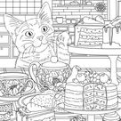 Little Thief  Printable Adult Coloring Page from Favoreads | Etsy