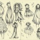 Moleskine study . Flower fairies by Mokinzi on DeviantArt